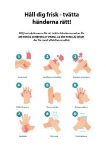 Tvätta händerna - gratis broschyr